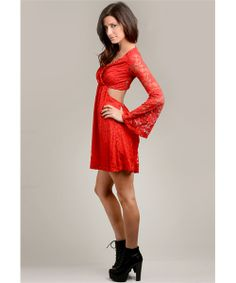 Red Lace Dress - HOT! ;-)