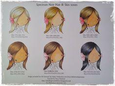 My Crafty world: Spectrum Noir Hair & Skin chart and tutorial