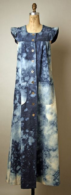 Denim pinafore dress, by Serendipity 3, American, 1977.