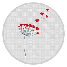 Dandelion Cross Stitch Pattern Counted cross stitch by Xrestyk