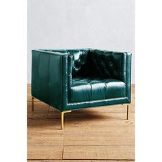 Anthropologie Premium Leather Mina Armchair (£2,155) ❤ liked on Polyvore featuring home, furniture, chairs, accent chairs, mountain spring, leather occasional chairs, handmade furniture, leather accent chairs, leather armchair and anthropologie chair