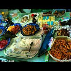 お父さんのお誕生日会 Tatays #birthday #party #sushi #savory #chicken #spaghetti #puto #food #japanese  #party #philippines #フィリピン #誕生日