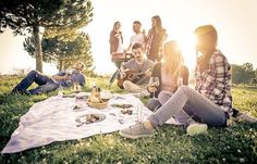 Group of friends having fun while eating and drinking at a pic-nic - Happy people at bbq party , Group Of Friends, Great Friends, Nicolas Feuillatte, Film Structure, Arctic Air, Champagne, Picnic Time, Bbq Party, Bank Holiday