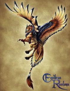 Endless Realms bestiary - Griffon by jocarra.deviantart.com on @DeviantArt