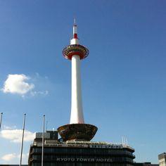 京都タワー Cn Tower, Kyoto, Scenery, Building, Travel, Viajes, Landscape, Buildings, Destinations