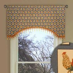 Gold and Brown Stripe Valance Curtain