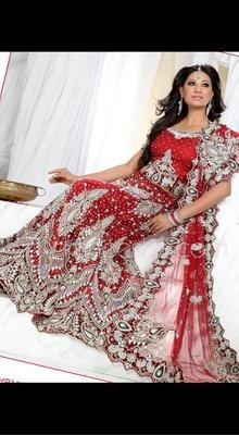 Vivacious Brick Red Lehenga Choli