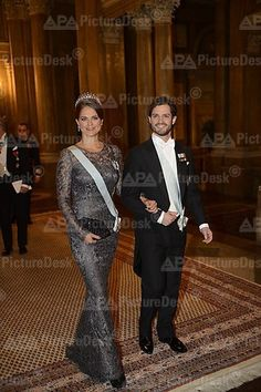 Miss Honoria Glossop:  Princess Madeleine and brother Prince Carl Philip and the Nobel Prize Dinner 2012