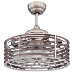 "14"" Savoy House Sea Side Satin Nickel Ceiling Fan"