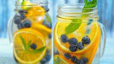 blueberry and orange detox water