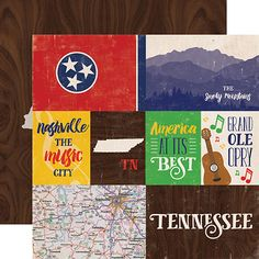 Echo Park - Stateside Collection - 12 x 12 Double Sided Paper - Tennessee at Scrapbook.com