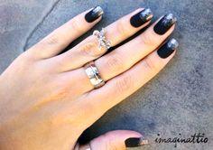 Unhas foscas com glitter - By Imaginattio