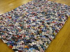 A rug made out of recycled SOCKS!