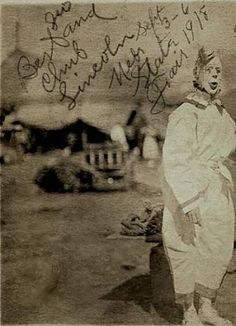 James Leo Duffy at the Nebraska State Fair 1918 (at which point the Fair would actually have been in Lincoln . Old Pictures, Old Photos, Grand Island Nebraska, Scary Photos, Carnival Themed Party, Nebraska State, Vintage Clown, Send In The Clowns, Creepy Clown