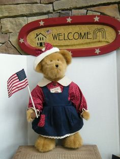"""Boyds Bears """"BAILEY""""  20"""" Americana Event Exclusive - #50010- NWT- 2003 -Retired"""