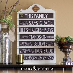 Isn't this Mary & Martha Vintage Announcement Board beautiful? I love how I can share the message of God's love through this timeless piece! www.mymaryandmartha.com/GatherTogether
