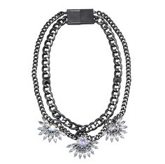 Anarchy Necklace in Gunmetal
