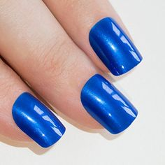 Bling Art False Nails French Manicure Blue Lagoon Full Cover Medium Tips UK * Continue to the product at the image link.