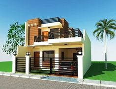 2 story house design modern 2 storey house design with roof deck archives regarding 2 storey 2 Story House Design, House Plans 2 Story, Modern House Plans, Small House Plans, Modern House Design, New House Construction, 2 Storey House, House Roof, House 2