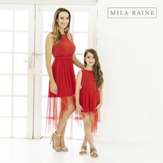 Mom and Me clothing delivered to your door. Short Sleeve Dresses, Dresses With Sleeves, My Mom, I Dress, Different Styles, My Outfit, Colours, Red, Clothes