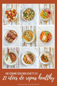 A week of menu ideas with recipes that are easy and quick to prepare Menus Healthy, Healthy Cooking, Healthy Eating, Healthy Recipes, Plats Healthy, Batch Cooking, Meal Prep, Nutrition, Food Porn
