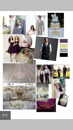 Plum gold silver black white - wedding ideas