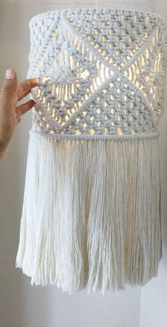 Macrame Wall Hanging Patterns, Macrame Patterns, Macrame Cord, Macrame Curtain, Macrame Design, Macrame Projects, Macrame Tutorial, Lampshades, Embroidery Patterns