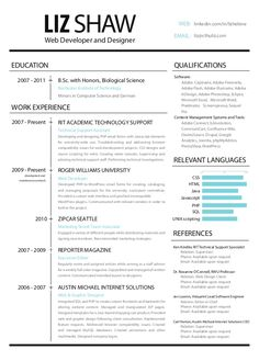 Web Developer Resume Is Needed When Someone Want To Apply A Job As