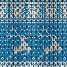 Illustration of easy to edit vector illustration of Christmas Sweater Pattern with playing reindeer vector art, clipart and stock vectors. Knitting Charts, Loom Knitting, Knitting Stitches, Christmas Knitting, Christmas Sweaters, Christmas Stockings, Knit Stranded, Fair Isle Chart, Charts And Graphs
