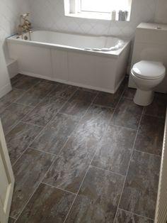 Polyflor Camaro Ocean Slate With An Ice Grout Strip Bathroom CarpetBathroom Floor TilesPebble Tile Shower Small BathroomVinyl Flooring