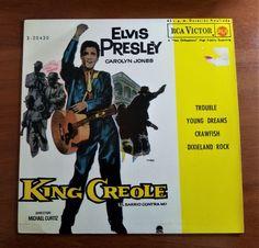 """7"""" ELVIS PRESLEY *KING CREOLE+3 - PB 49675 (3-20449) -  Spain -"""