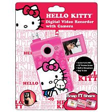 Hello Kitty Digital Video Recorder Manufacturer's Age: 6 years and up This Hello Kitty Digital Video Recorder features a Hello Kitty design. It has a 1.8 inch preview screen and that turns 180 degrees. With this great video recorder, you can watch videos on TV.