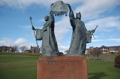 The Declaration of Arbroath is a declaration of Scottish independence, made in 1320. It is in the form of a letter submitted to Pope John XXII, dated 6 April 1320, intended to confirm Scotland's status as an independent, sovereign state and defending Scotland's right to use military action when unjustly attacked. Generally believed to have been written in the Arbroath Abbey by Bernard of Kilwinning.
