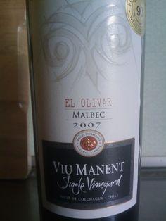 "Viu Manent: Single Vineyard ""El Olivar"" Malbec Chile"