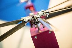 Servo motors can provide instant tilt adjustment to each of the Belias quadcopter's variable pitch props