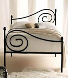 simple wrought iron bed design by tabu-sam Wrought Iron Bed Frames, Wrought Iron Decor, Iron Furniture, Furniture Design, Bed Frame Design, Mattress Frame, Steel Bed, Beds For Sale, Metal Beds