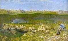 Giovanni Segantini, Alpine Pasture (1893 - 1894) on ArtStack #giovanni-segantini #art