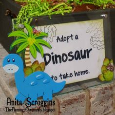 See how to make this Adopt A Dinosaur party decoration using Deflecto™ 5x7 Beveled Frame.