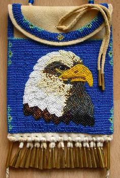 Eagle bag. People's beading talents are astounding.