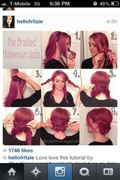 Love this easy step by step messy up-do