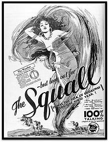 1929: The Squall starring Myrna Loy, Richard Tucker, Alice Joyce and Loretta Young