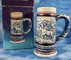 "1983 Ceramarte ENDANGERED SPECIES STEIN moose FALCON condor EAGLE sheep 5"""