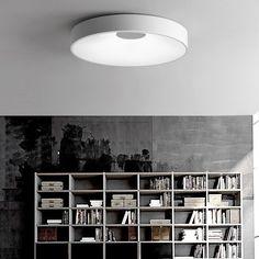 Modern White LED Round Dot Flush Mount Ceiling Lamp for Bedroom Living Room Sloped Ceiling, Ceiling Lamp, Ceiling Lighting, Modern Led Ceiling Lights, Flush Mount Ceiling, Light Colors, Bulb, Living Room, Bedroom