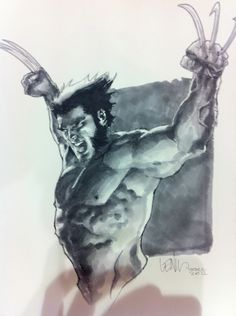 Wolverine by Leinil Yu the stuff people can do with Copic markers blows my mind