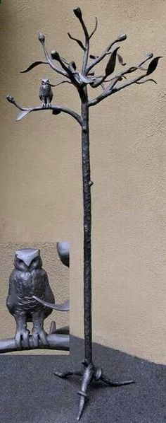 But made of wood and a carved and stained owl.