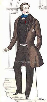1840-1860: upper class men's clothing