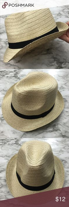 0bc0d2a613b 🌞NEW Straw Fedora Hat NEW 🌞🌞🌞 This cute straw fedora Panama hat with a  black band is lightweight and perfect for the beach! So stylish!