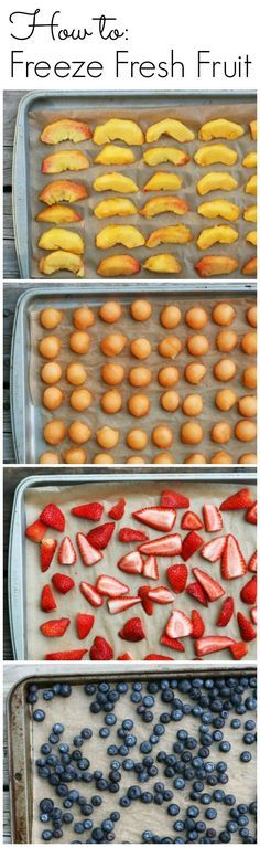 How to freeze fresh fruit to enjoy summer all year long!