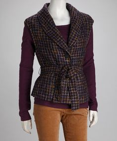 Take a look at this Plum Tie Vest by Nomadic Traders on #zulily today!