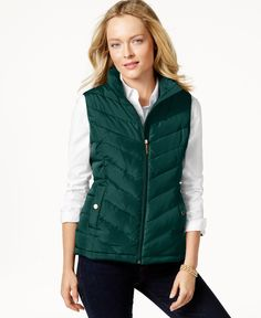 Charter Club Quilted Chevron Vest, Only at Macy's